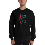 LOVE (for the Special Needs Community) Sweatshirt Stacked Design 3 of 3