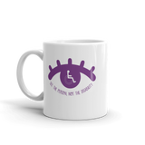 See the Person, Not the Disability (Eyelash Design) Mug