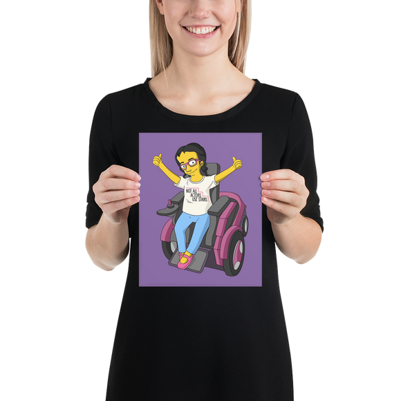 poster Not All Actor Use Stairs yellow cartoon Raising Dion Esperanza Netflix Sammi Haney ableism disability rights inclusion wheelchair actors disabilities actress