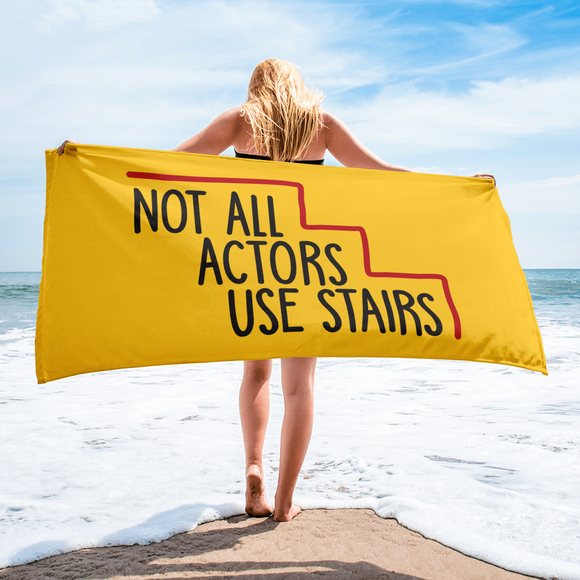 beach towel Not All Actors Use Stairs acting actress Hollywood ableism disability rights inclusion wheelchair inclusive disabilities