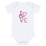 LOVE (for the Special Needs Community) Onesie Stacked Design 2 of 3