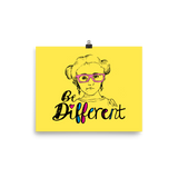 Poster be different Raising Dion Esperanza fan Netflix Sammi Haney wheelchair pink glasses disability osteogenesis imperfecta
