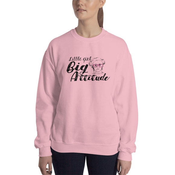 sweatshirt Little Girl Big Attitude Raising Dion Esperanza fan Netflix Sammi Haney wheelchair pink glasses sass sassy disability osteogenesis imperfecta