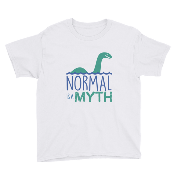 youth shirt shirt normal is a myth loch ness monster lochness peer pressure popularity disability special needs awareness inclusivity acceptance activism