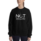 Not Invisible (Sweatshirt - Dark Colors Women's Design)
