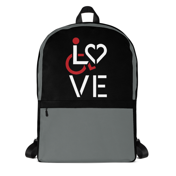 backpack school showing love for the special needs community heart disability wheelchair diversity awareness acceptance disabilities inclusivity inclusion