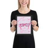 framed poster I love Pink pink glasses love luv heart Raising Dion Esperanza fan Netflix Sammi Haney