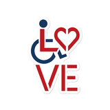LOVE (for the Special Needs Community) 2 Color Stacked Design Sticker