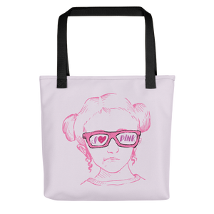tote bag I love Pink pink glasses love luv heart Raising Dion Esperanza fan Netflix Sammi Haney