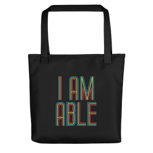 tote bag I am Able abled ability abilities differently abled differently-abled able-bodied disabilities people disability disabled wheelchair