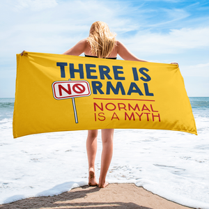 beach towel there is no normal myth peer pressure popularity disability special needs awareness diversity inclusion inclusivity acceptance activism