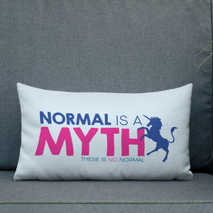 pillow normal is a myth unicorn peer pressure popularity disability special needs awareness inclusivity acceptance activism