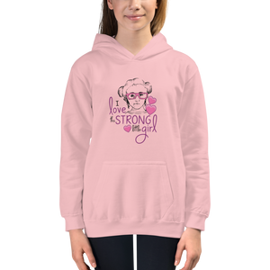 kid's hoodie I love this strong little girl Sammi Haney Fan Esperanza Netflix Raising Dion strong little wheelchair pink glasses disability osteogenesis imperfecta