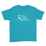 See the Person, Not the Disability (Youth Dark Color Shirts)