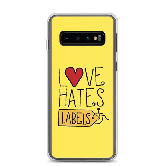Samsung case Love Hates Labels disability special needs awareness diversity wheelchair inclusion inclusivity acceptance