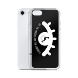 See the Person, Not the Disability (Eyelash Design) Black iPhone Case