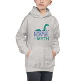 kid's hoodie normal is a myth loch ness monster lochness peer pressure popularity disability special needs awareness inclusivity acceptance activism