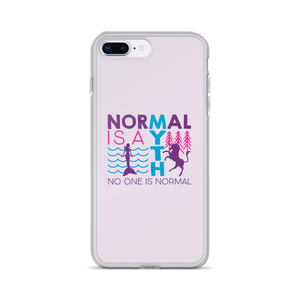 iPhone case normal is a myth mermaid unicorn peer pressure popularity disability special needs awareness inclusivity acceptance