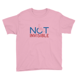 Not Invisible (Youth Light Color Shirts)