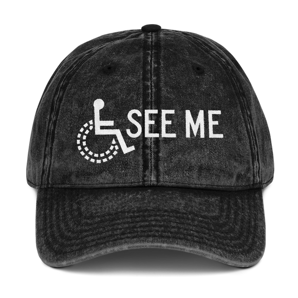 hat See me not my disability wheelchair invisible acceptance special needs awareness diversity inclusion inclusivity