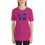 Love Sees No Limits (Halftone Stacked Design, Unisex Shirt)