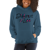 Different Does Not Equal Less (As Seen on Netflix's Raising Dion) Light Color Hoodies with Digital Glitter