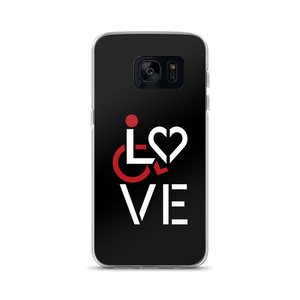 Samsung phone case showing love for the special needs community heart disability wheelchair diversity awareness acceptance disabilities inclusivity inclusion