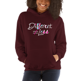 Different Does Not Equal Less (As Seen on Netflix's Raising Dion) Hoodie Dark Colors