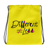 Different Does Not Equal Less (As Seen on Netflix's Raising Dion) Yellow Drawstring Bag
