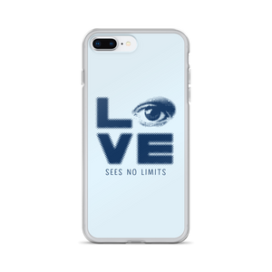 iPhone case love sees no limits halftone eye luv heart disability special needs expectations future