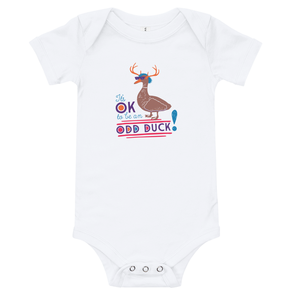 baby onesie babysuit bodysuit It's OK to be an odd duck Raising Dion Esperanza fan Netflix Sammi Haney different bird