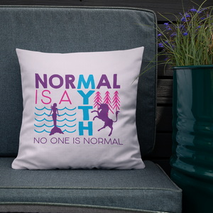 pillow normal is a myth mermaid unicorn peer pressure popularity disability special needs awareness inclusivity acceptance