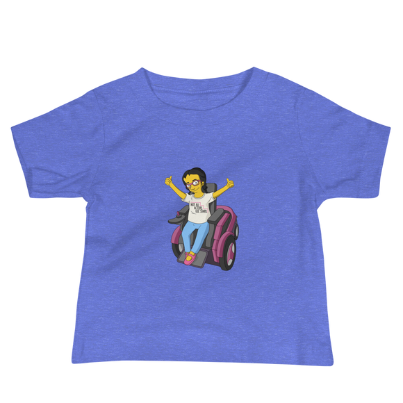 baby shirt Not All Actor Use Stairs yellow cartoon Raising Dion Esperanza Netflix Sammi Haney ableism disability rights inclusion wheelchair actors disabilities actress