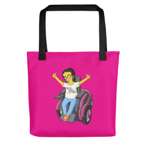 tote bag Not All Actor Use Stairs yellow cartoon Raising Dion Esperanza Netflix Sammi Haney ableism disability rights inclusion wheelchair actors disabilities actress