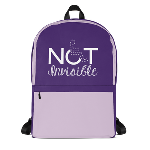 backpack school not invisible disability special needs awareness diversity wheelchair inclusion inclusivity acceptance