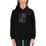 Kid's hoodie I am Able abled ability abilities differently abled differently-abled able-bodied disabilities people disability disabled wheelchair