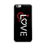iPhone case showing love for the special needs community heart disability wheelchair diversity awareness acceptance disabilities inclusivity inclusion