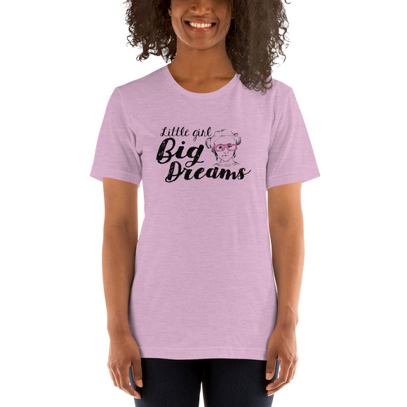 Shirt little girl big dreams Sammi Haney Fan Esperanza Netflix Raising Dion strong little wheelchair pink glasses disability osteogenesis imperfecta
