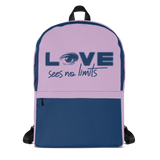 backpack school love sees no limits halftone eye luv heart disability special needs expectations future
