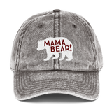 Mama Bear! Vintage Cotton Twill Cap
