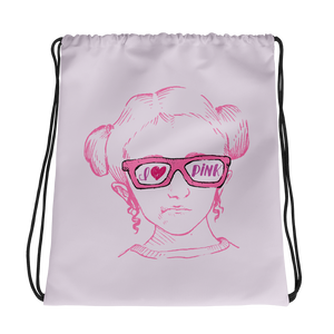 drawstring bag I love Pink pink glasses love luv heart Raising Dion Esperanza fan Netflix Sammi Haney
