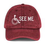 See Me (Not My Disability) Vintage Cotton Twill Cap