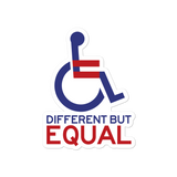 Different but Equal (Disability Equality Logo) Sticker