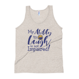 tank top my ability to laugh is not impaired fun happy happiness quality of life impairment disability disabled wheelchair positive