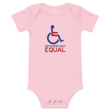 Different but Equal (Disability Equality Logo) Baby Onesie Light Colors