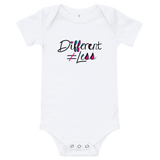 Different Does Not Equal Less (As Seen on Netflix's Raising Dion) Baby Onesie Pink/White