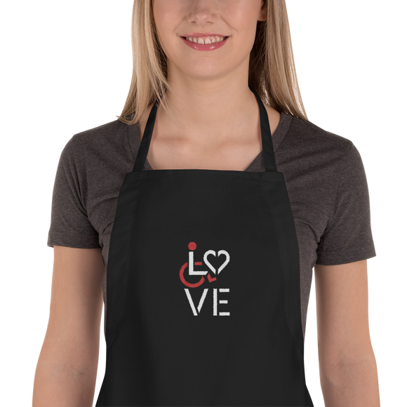 LOVE (for the Special Needs Community) Embroidered Apron