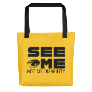 tote bag See me not my disability wheelchair invisible acceptance special needs awareness diversity inclusion inclusivity