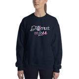 Different Does Not Equal Less (As Seen on Netflix's Raising Dion) Sweatshirt Dark Colors