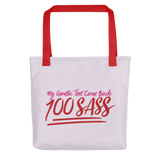 My Genetic Tests Came Back 100 SASS (Pink Tote Bag)